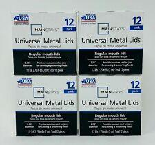 Mainstays Regular Mouth Metal Lids 4 Pack (48 Lids in Total)