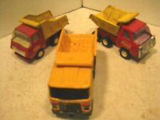 3 Vintage Tonka and Buddy L small pressed steel toy trucks