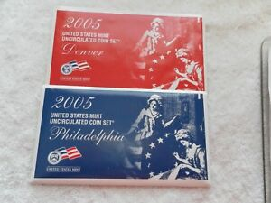 2005 United States Mint Uncirculated Coin Set  First Satin Finish Issue