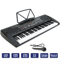 Digital Piano Keyboard 61 Key - Portable Electronic Instrument with Mic