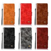 For Google Pixel 2 /Pixel 2 XL Vintage Leather Case Wallet Card Slots Flip Cover