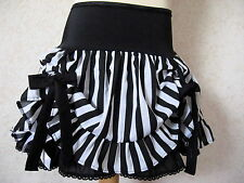 Striped hitch Up skirt Gothic Black white petticoat lace skirt Alternative Party