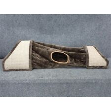 Humane Goods Large Cozy Cat Tunnel with Sisal Scratch Surfaces, Brown
