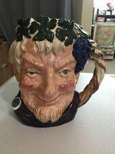 """Royal Doulton Toby Character Large Jug 7.5"""" Bacchus D6499 Porcelain 1958 Vtg"""