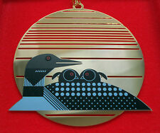 Charlie/ Charley Harper- Brass Christmas Ornament - LOONRISE - fun duck art