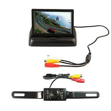 Car SUV Broadband Vision Reversing Camera & 4.3 Inch Rear View Foldable Screen