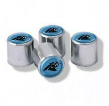 Chrome Plastic Football Carolina Panthers Tire Valve Stem cap Covers 4 Piece set