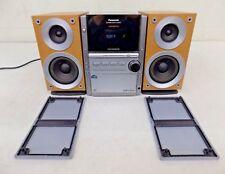 Panasonic SA-PM16 AM/FM Stereo 5-CD Cassette Bi-Amplified Mini System NO REMOTE