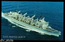 USS SEATTLE 8X10 PHOTO AOE-3 NAVY US USA MILITARY FAST COMBAT SUPPORT SHIP