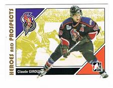 2007-08 CLAUDE GIROUX ITG HEROES AND PROSPECTS RC #45 FLYERS