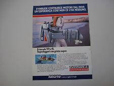 advertising Pubblicità 1982 FUORIBORDO EVINRUDE 9.9 E 15