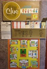 1963 Parker Brothers Clue Board Game Vintage Detective Action 99% Complete!