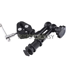 """7"""" Articulating Magic Arm+Super Clamp for HDMI LCD Monitor LED light DSLR Camera"""