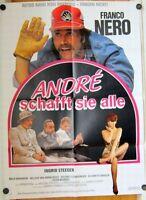 ANDRÉ SCHAFFT SIE ALLE (Filmplakat '85) - FRANCO NERO / INGRID STEEGER