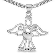 Silber Engel Anhänger  Herz  Zirkonia Schutzengel Schmuckanhänger Engelschmuck