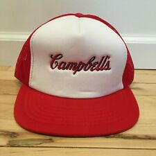 Vintage Campbell's Soup Snapback Trucker Hat Dead-stock