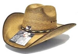 New Jason Aldean Resistol Hat Amarillo Sky Palm Cowboy Hat Size 7 1/4