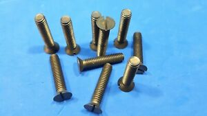 "Machine Screws x10  Brass 5/16 BSW  1½"" long Countersunk Setscrews Bolt"