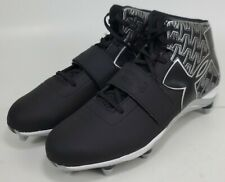 New Under Armour Guide (US Size 13) Football Cleats Black White 1264317-001
