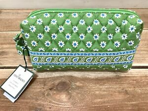 Vera Bradley Travel Cosmetic Bag Dainty Dopp Apple Green Makeup Case Paisley NWT