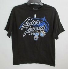 NBA MAGIC LEGEND SOLID BLACK 100% COTTON CREWNECK SHORT SLEEVE GRAPHIC TEE*SZ M*