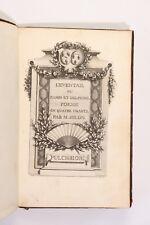 1780 Millon Milon L'éventail Femme ornement mode Octave Uzanne ex libris rare EO