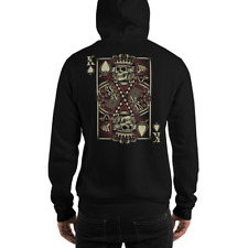 King of Spades Skeletal Gambling Poker Unisex Hoodie