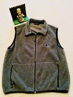 Black Diamond Gray Zip Up Fleece Vest, Men's Large USA  Minimal Wear