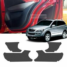 Carbon Door Decal Sticker Cover Kick Protector for SSANGYONG 2005-2013 Kyron