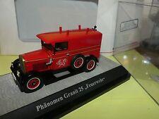 PHANOMEN GRANIT 25 FEUERWEHR Pompiers PREMIUM CLASSIXXS 11554 1:43