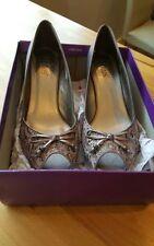 Lotus Peep Toes Slim 100% Leather Upper Heels for Women
