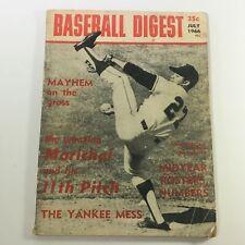 VTG Baseball Digest Magazine July 1966 - Juan Marichal / Newsstand