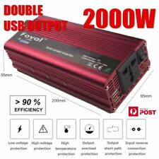 4000W Peak DC12V to AC 240V Power Inverter Converter 2USB Output Stable WS