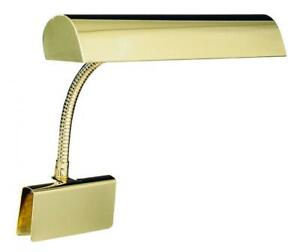 """House Of Troy GP14-61 Grand Piano 14"""" Portable Lamp, Polished Brass"""