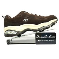 Skechers Womens Brown Premium Sport Leather Sneaker Athletic Shoes Size US 9