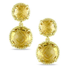 Amour Yellow Silver Citrine Dangle Earrings