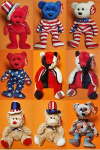 Ty Beanie Babies Thema Amerika Sammlungsauflösung gut erhalten