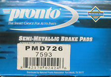 BRAND NEW PRONTO FRONT BRAKE PADS PMD726 / D726 FITS VEHICLES ON CHART
