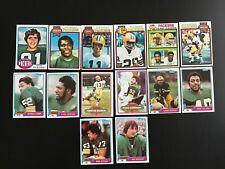 Lot 14 cartes NFL  Green Bay Packers Topps 1976 à 1981 Football Américain