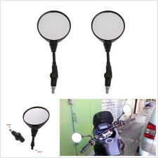 2 Pcs Foldable Spherical Motorcycles ATV Handlebar Rearview Mirrors 10mm Thread