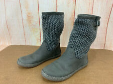 UGG Women's LYZA Tall Charcoal Gray Suede/Wool Boots Sz 6     1012490  Z45(10)