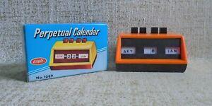 Perpetual Calendar No 1089 NIB Eagle UK orange