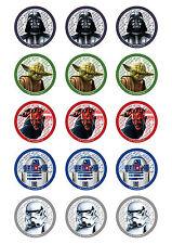 STAR WARS Cupcake Round Edible Image Topper Decoration