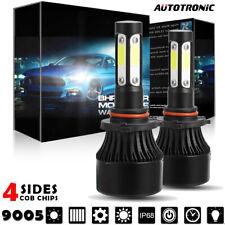 Pair LED Light Bulbs COB Chip Kit 9005 HB3 6000K Headlight 1900W 285000LM Lumens