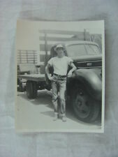 Vintage Photo Man w/ 1941 Ford Truck 814
