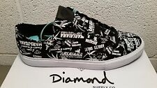 diamond supply co. black hemp marijuana skate shoes NIB