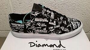 diamond supply co. black hemp marijuana skate shoes NIB