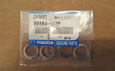 Mazda Oem Aluminum Oil Drain Plug Gasket 9956-41400 Lot Of 5.(Fits: Mazda 929)