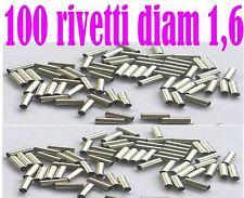 100 rivetti tubo acciaio 1,6mm pesca traina serra luccio termosaldante cavetti