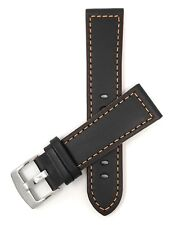 Mens' Leather Watch Strap Band, 18-24mm, fits Ferrari, Hamilton, Fossil & More